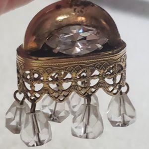 Vintage Crystal Charm Bracelet